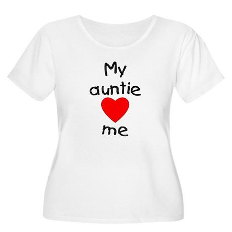 My auntie loves me Women's Plus Size Scoop Neck T-