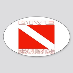 Dive Oranjestad, Aruba Oval Sticker