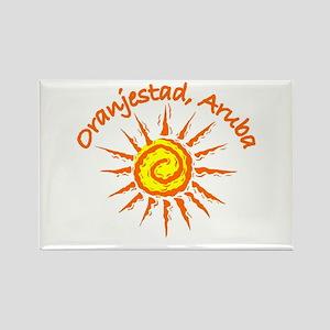 Oranjestad, Aruba Rectangle Magnet
