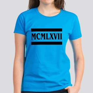 Roman numerals, 1967 Women's Dark T-Shirt