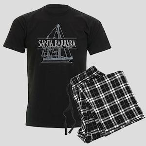 Santa Barbara - Men's Dark Pajamas