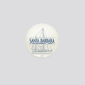 Santa Barbara - Mini Button