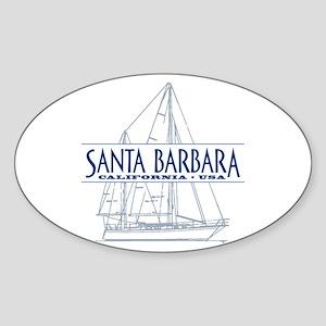 Santa Barbara - Sticker (Oval)