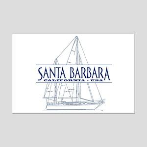 Santa Barbara - Mini Poster Print