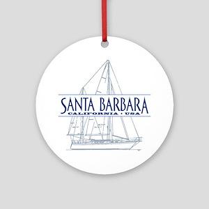 Santa Barbara - Ornament (Round)
