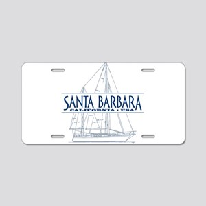 Santa Barbara - Aluminum License Plate