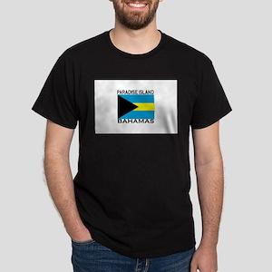 Paradise Island, Bahamas Flag Dark T-Shirt