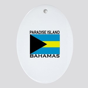 Paradise Island, Bahamas Flag Oval Ornament