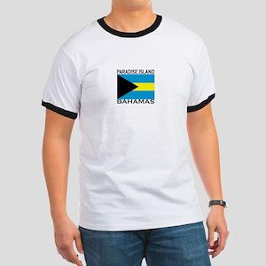 Paradise Island, Bahamas Flag Ringer T