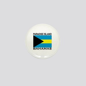 Paradise Island, Bahamas Flag Mini Button