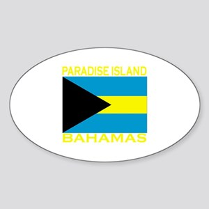 Paradise Island, Bahamas Oval Sticker