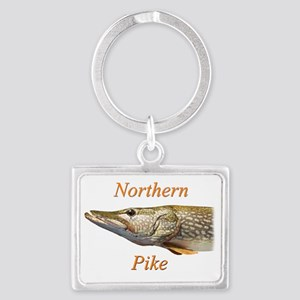 Northern Pike Landscape Keychain