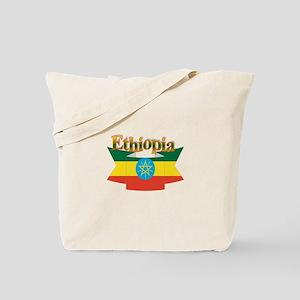 Ethiopian flag ribbon Tote Bag