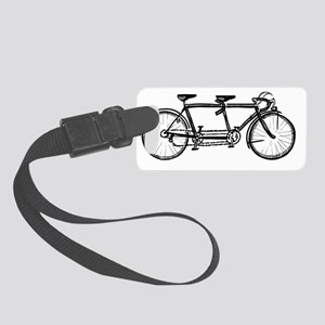 Tandem Bicycle Small Luggage Tag