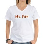 Mrs. Potter Women's V-Neck T-Shirt