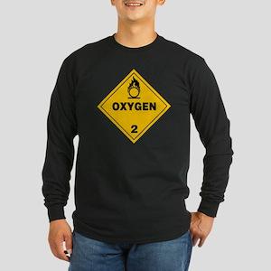Yellow Oxygen Warning Sig Long Sleeve Dark T-Shirt