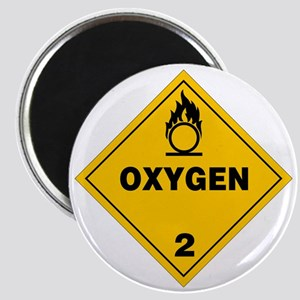 Yellow Oxygen Warning Sign Magnet