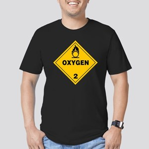 Yellow Oxygen Warning  Men's Fitted T-Shirt (dark)