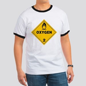 Yellow Oxygen Warning Sign Ringer T