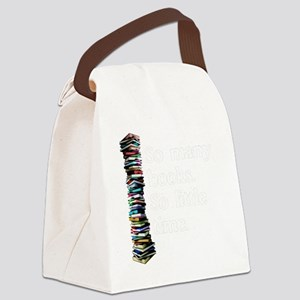 So Many Books Dark Background 2 Canvas Lunch Bag