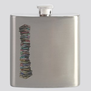 So Many Books Dark Background 2 Flask