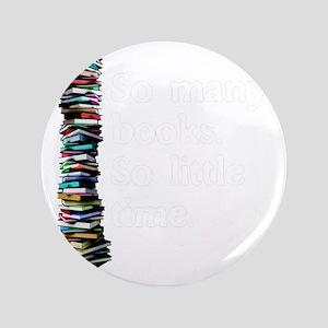 "So Many Books Dark Background 2 3.5"" Button"