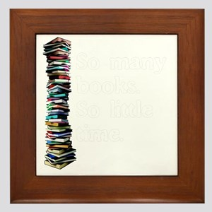So Many Books Dark Background 2 Framed Tile