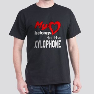 My Heart Belongs To The Xylophone Dark T-Shirt