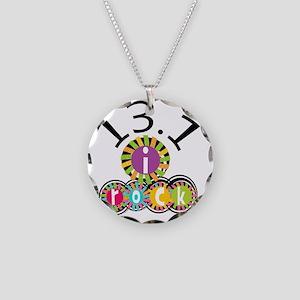 13.1 I Rock Necklace Circle Charm