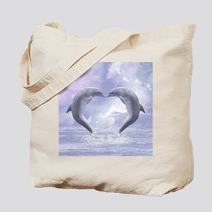 Dolphins Kisses Tote Bag