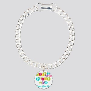 13.1 Never Give Up Charm Bracelet, One Charm