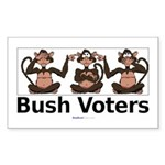 """Monkey Bush Voters"" Rect Sticker"