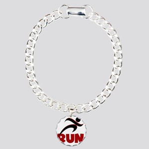 RUN Red Charm Bracelet, One Charm