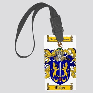 Maher Family Crest / Maher Coat  Large Luggage Tag