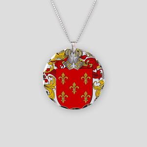 Maldonado Family Crest / Mal Necklace Circle Charm