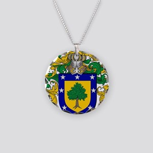 Martinez Family Crest - coat Necklace Circle Charm