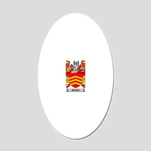 Matthews Family Crest - Coat 20x12 Oval Wall Decal