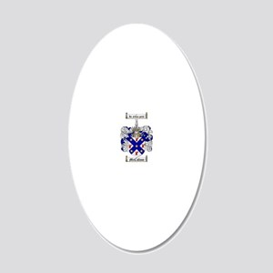 McCallum Family Crest - coat 20x12 Oval Wall Decal