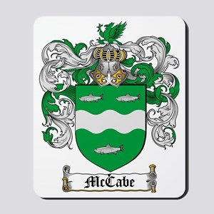 McCabe Family Crest - coat of arms Mousepad