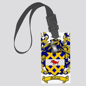 McCann Family Crest - coat of ar Large Luggage Tag