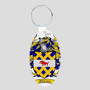 McCann Family Crest - coat  Aluminum Oval Keychain