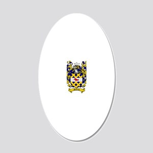 McCann Family Crest - coat o 20x12 Oval Wall Decal