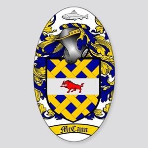 McCann Family Crest - coat of arms Sticker (Oval)
