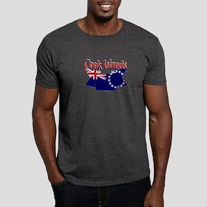 Cook Island flag ribbon Dark T-Shirt