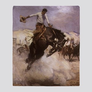 Breezy Riding by Koerner Throw Blanket