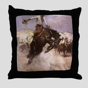 Breezy Riding by Koerner Throw Pillow