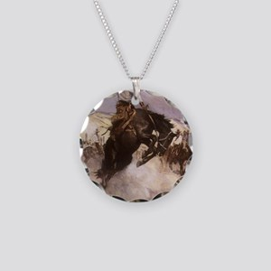 Breezy Riding by Koerner Necklace Circle Charm