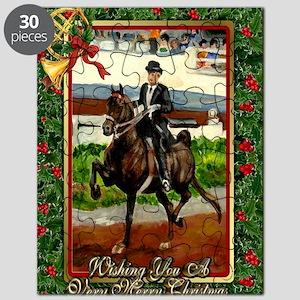 Morgan Saddleseat Horse Christmas Puzzle