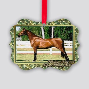 Morgan Horse Christmas Picture Ornament