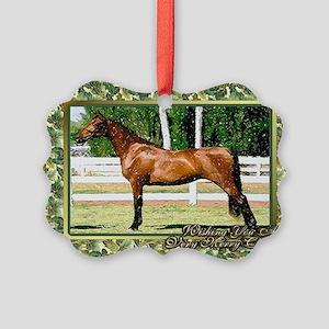 Morgan Horse Christmas Picture Ornament